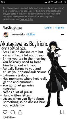 Boyfriend Best Friend, Anime Boyfriend, Dazai Bungou Stray Dogs, Stray Dogs Anime, Hero Academia Characters, Anime Characters, Funny Marvel Memes, D Gray Man, Disney Facts