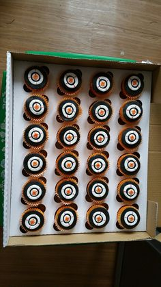 Bulleye cupcakes for nerf gun party