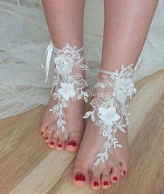 SANDALES / / shoes bridal sandales sandales par WEDDINGGloves, $40.00