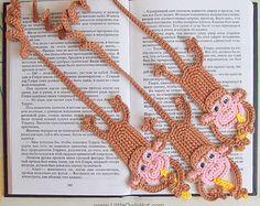 029 Monkey Bookmark - Amigurumi Crochet Pattern PDF file by Zabelina Etsy