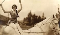 A beautiful horse and circus performer. #vintage #circus #performer #horse #woman