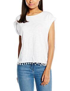 edc by ESPRIT Damen T-Shirt Pompom 045CC1K017