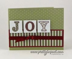 Joy card (gonna have to try)...cute