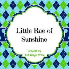 Little Rae of Sunshine https://www.facebook.com/littleraeofsunshine14