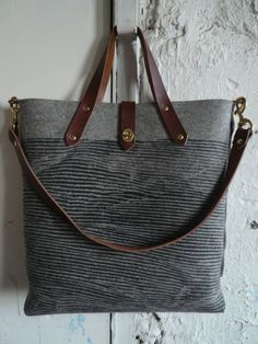 Felt tote from Flux Productions. $300