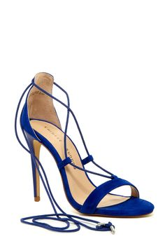 Blue beauties!  Chinese Laundry Jambi Lace-Up Heeled Sandals