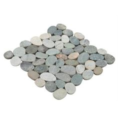 Kayan River Pebble Stone Mosaic - 12in. x 12in. - 100032523 | Floor and Decor