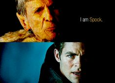 One of the best, if not THE best, exchanges in the '09 Trek movie. Star Trek Gif, Star Trek 2009, Star Trex, Star Trek Reboot, Geek Movies, Movie Gifs, Bald Man, The Final Frontier, Chris Pine