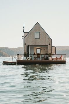 Forget the Forest, This Floating Cabin Is Going to Top Your Birthday Wish List | Whether you're envisioning a nautical soiree for sixteen or a romantic getaway for two (or both) for your next birthday bash, Lilypad is up for the task – no boating experience required. Spend your days lounging on the deck with a glass of something chilled, go for a dip whenever you see fit and snuggle up around the fire as the sun goes down. After all, you are the captain now. | Photo: Lilypad Palm Beach