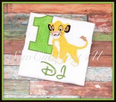Simba Lion King Themed Birthday Personalized by SewCuteJust4U, $21.50