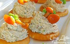 Грибная закуска на крекерах | Кулинарные рецепты от «Едим дома!»