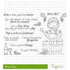 Wine Not Stampset Sugar Pea Designs