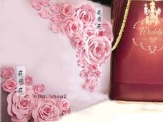 Package for 34pcs of 60cm 40cm 30cm 20cm Paper Card Flower Wedding Backdrop