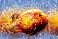 Title  Fish Eggs   Artist  Barbara Chichester   Medium  Photograph - Digital Art, Paintography, Fine Art Photography