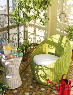 Los muebles de jardín en mimbre  son un must en verano