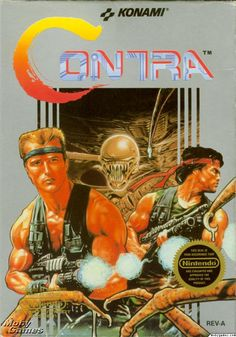 Contra -NES. A game I played with my boys!! Lol