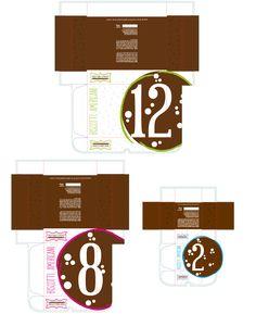 #Cookies #packaging - hinged lid box #custom #diecut #template created on #Packly