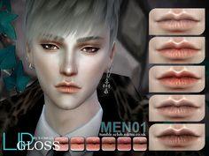 Sims 4 CC's - The Best: Lipstick for Men by S-Club