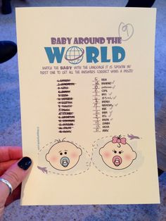 non-lame baby shower games. travel-themed gender neutral baby shower.