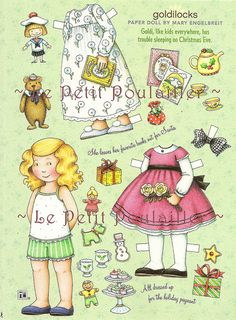 Mary Engelbreit's Home Companion Paper Dolls, Goldilocks by Le Petit Poulailler, via Flickr