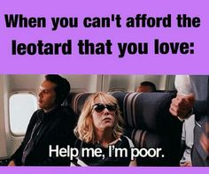 When you can't afford the leotard that you love... #danceprobs #dancerproblems