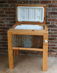 I love this rustic ice chest! Icechestunlimited.com