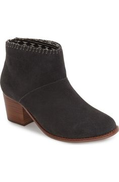 TOMS 'Leila' Suede Bootie (Women) available at #Nordstrom
