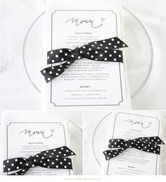 DIY menu  Free printable menu  Karty menu w kolorze czarnym do pobrania za darmo
