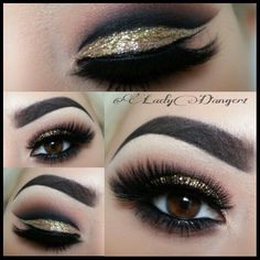 Gold Smokey Eye for Brown eyes