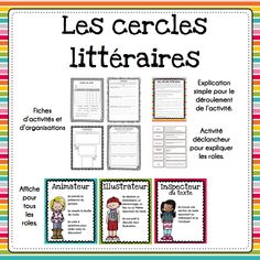 Les cercles littéraires by Mme Jones Teaching French Immersion, Ontario Curriculum, Spanish Language Learning, Teaching Spanish, Language Arts, French Teaching Resources, First Year Teaching, French Education, French Classroom