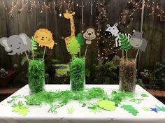 Zoo / selva / toppers de cupcake con temática de Safari