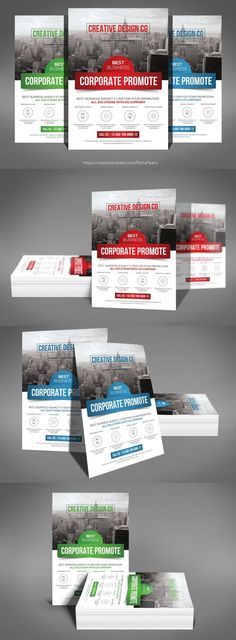 Creative Corporate Flyer Template. Flyer Templates. $6.00