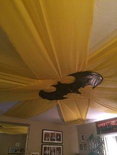 Batman party ceiling decoration plastic table cloths
