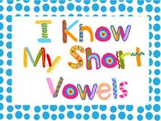 Free: I Know My short Vowels