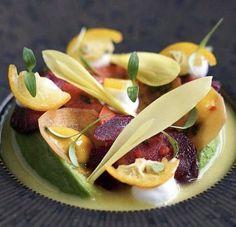 Food Presentation, Food Plating, Cantaloupe, Salads, Food Porn, Restaurant, Dishes, Canning, Fruit
