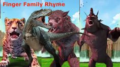 Finger Family Rhyme with 3D Wild Animals | 3d Animals finger family chil...