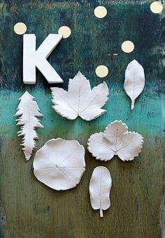 DIY clay leaves - perfect home decor for Autumn, don't you think? :)