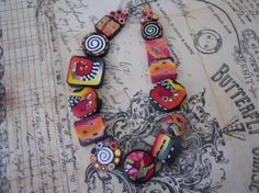 Polymer Clay Beads by TLS Clay Design by TLSClayDesign on Etsy, $19.99