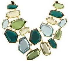 Joan Rivers necklace in many shades of green
