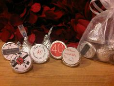 Personalized Hershey Kisses for Anniversary Party Favors!