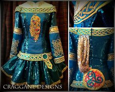 Craggane Designs Irish Dance Dresses......IT LOOKS LIKE MERIDA'S DRESS!!