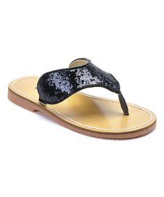 Black Shimmer Sandal
