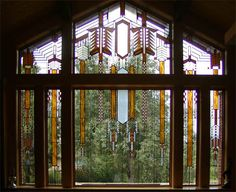 Frank Lloyd Wright Stained Glass Picture Window