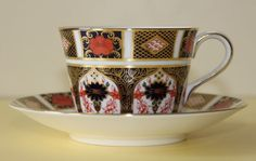 ROYAL CROWN DERBY OLD IMARI CUP AND SAUCER 1128 1ST QUALITY #CupsSaucers