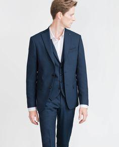 Image 2 of DARK BLUE SUIT from Zara