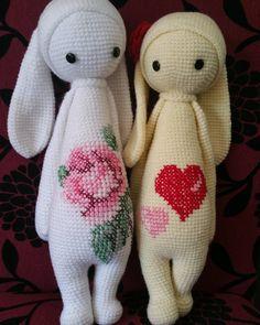 Rita the rabbit made by Ammy K. / crochet pattern by lalylala