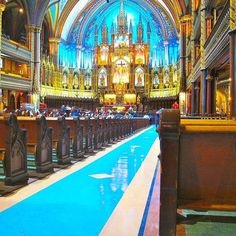 Inside one of the prettiest churches i have ever been #notredame #cathedral in downtown #montreal #canada by clayander03