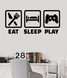 Vinyl Wall Decal Gaming Lifestyle Video Game Playroom Teen Room Stickers Unique Gift - Diy Home Decor Crafts Kids Bedroom, Bedroom Decor, Bedroom Ideas, Master Bedroom, Room Stickers, Gamer Room, Game Room Decor, Room Setup, My New Room