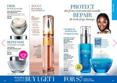 You can protect, firm and boost your skin with the Anew products!  Right now they are buy 1, get 1 for $7!  Check them out at my eStore: https://jtomlinson.avonrepresentative.com/