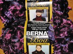 Bernat Boa Eyelash Yarn Two Balls Grape Purple by RosesPatternsEtc